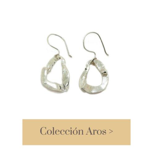 Pendientes plata de ley reciclada modelados artesanalmente en nuestro taller de joyería de Madrid. Bisutería ética ecológica