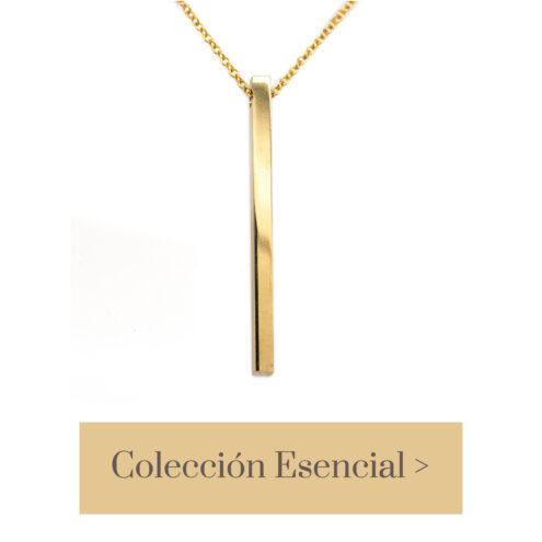 colgante bañado oro 24Kt fabricado artesanalmente en nuestro taller de joyería de Madrid. Bisutería ética ecológica