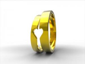 Alianzas hechas a mano por encargo en oro ecológico y sostenible de comercio justo.